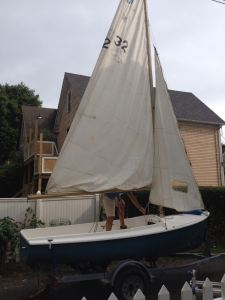 'Calpurnia' or baby boat at the house while we made sure all parts were there.