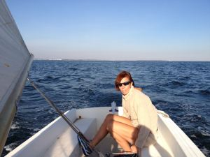 Sailing on Long Island Sound off of Fayerweather Island, September 2013.