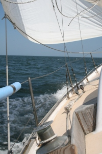 Sailing on June 2nd with sustained 17kt winds, gusts at 24kt