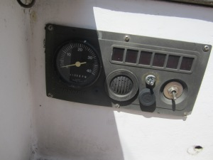 Engine Control Panel, this weeks project.  No more bent key to start Scout, now we just have to flip a switch (far right)