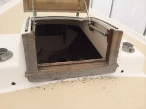 Forward hatch after sanding