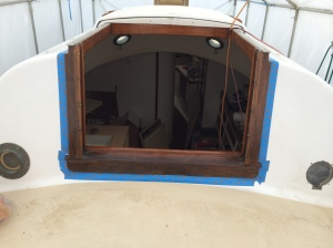 First coat of varnish on the main hatch