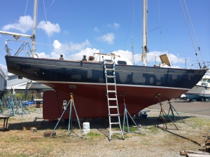 Port Side, primed and sanded