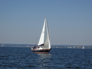 Scout under sail on Saturday, September 27, 2014