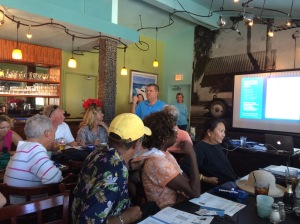 Briefing by Mark Doyle, giving many suggestions on how we can safely get to Vero Beach by Friday