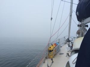 Foggy morning sail from Stonington, CT to Block Island