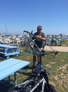 Brian spent some time getting our bikes together for a weeks worth of entertainment