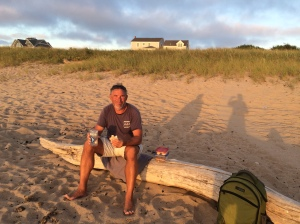 Sunset picnic on the west side beach