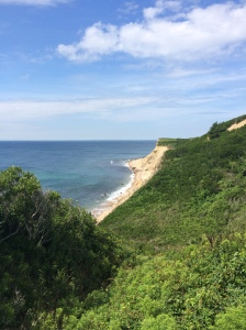 A view of the cliffs from the Rodman Hollow nature preserve