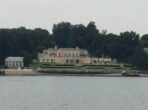 One of the many mansions along the channel into Port Washington