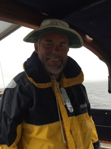 Brian still can smile after 2 days of wet foul weather gear