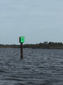 G63 in the Currituck Sound is the Virginia / NC border, we are going south!