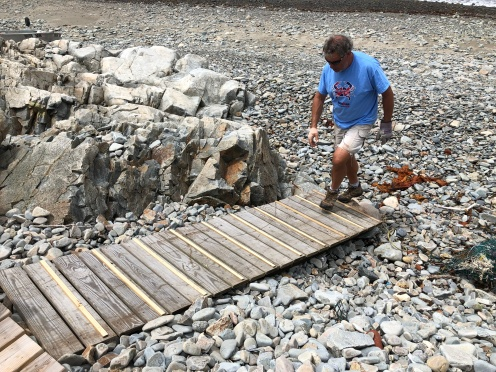 Brian inspecting the finished job