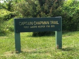 Another trail sign in place.