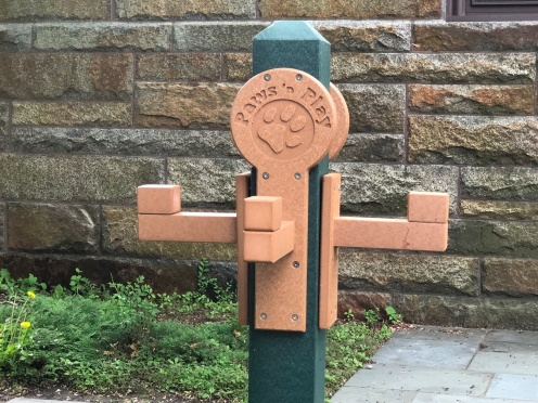 This doggie hitching post was on the library grounds in town, kind of a fun idea.