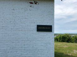 Signs were put in place today, this is the Lantern House at the base of the tower, it is also the home of the Baker's Island Museum/Giftshop