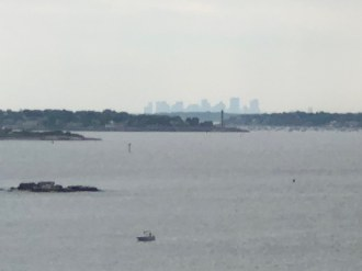 The Boston Skyline from the top of the tower