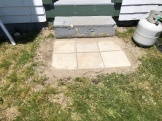 The new landing step at the Keepers Cottage
