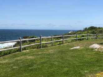 The repaired Post & Rail fence