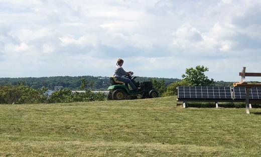 Tara on the Tractor