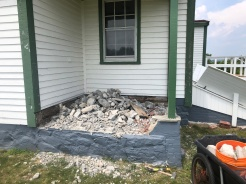 Finished porch demolition