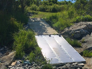 Finished Utility Ramp at Beach