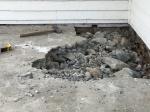 Porch destruction inprogress